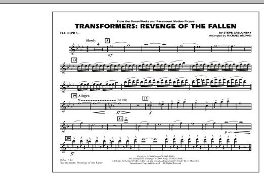 Transformers: Revenge Of The Fallen - Flute/Piccolo (Marching Band)