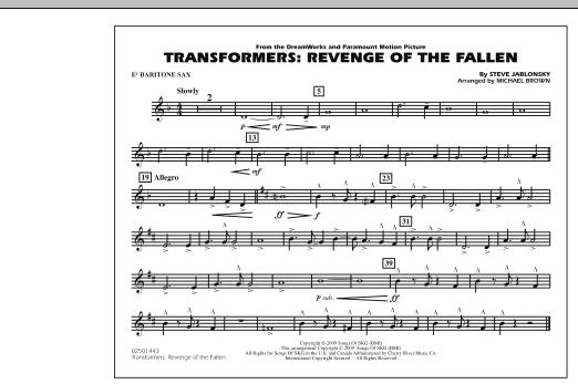 Transformers: Revenge Of The Fallen - Eb Baritone Sax (Marching Band)