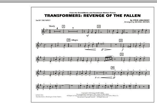 Transformers: Revenge Of The Fallen - 2nd Bb Trumpet (Marching Band)