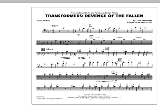 Transformers: Revenge Of The Fallen - 1st Trombone (Marching Band)