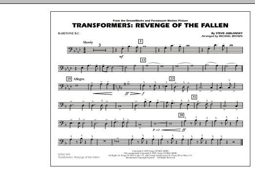 page one of Transformers: Revenge Of The Fallen - Baritone B.C.ASALTTEXT