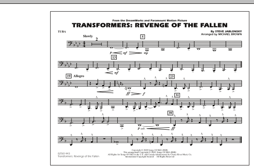 Transformers: Revenge Of The Fallen - Tuba (Marching Band)