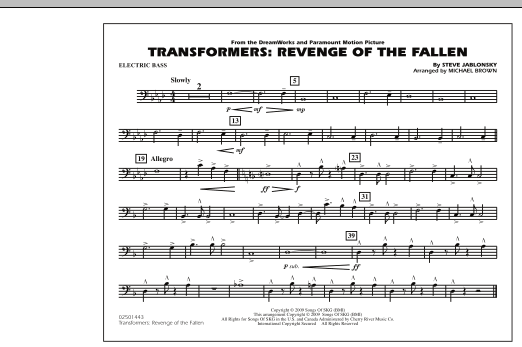 Transformers: Revenge Of The Fallen - Electric Bass (Marching Band)