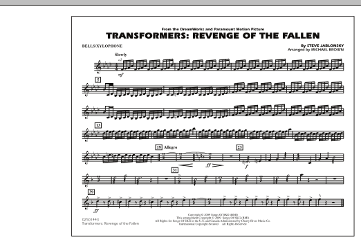 Transformers: Revenge Of The Fallen - Bells/Xylophone (Marching Band)