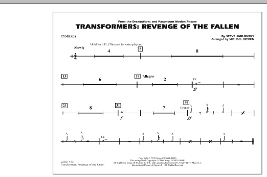 Transformers: Revenge Of The Fallen - Cymbals (Marching Band)