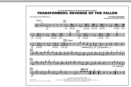 Transformers: Revenge Of The Fallen - Multiple Bass Drums (Marching Band)