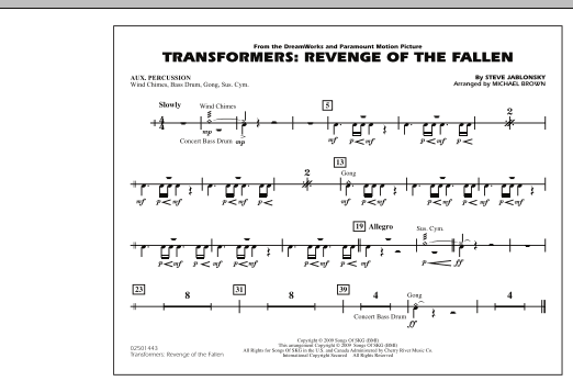 Transformers: Revenge Of The Fallen - Aux Percussion (Marching Band)