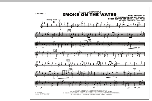 Smoke On The Water - Eb Alto Sax (Marching Band)