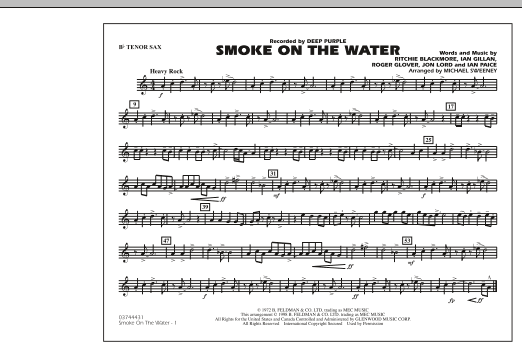Smoke On The Water - Bb Tenor Sax (Marching Band)