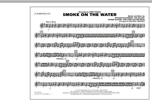 Smoke On The Water - Eb Baritone Sax (Marching Band)
