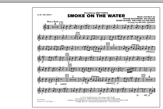 Smoke On The Water - 1st Bb Trumpet (Marching Band)