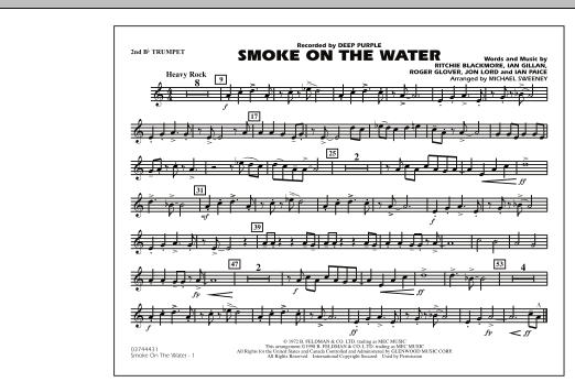 Smoke On The Water - 2nd Bb Trumpet (Marching Band)