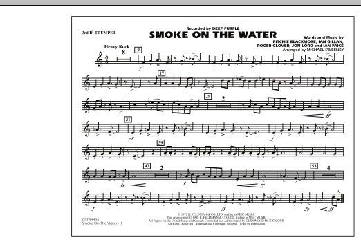 Smoke On The Water - 3rd Bb Trumpet (Marching Band)
