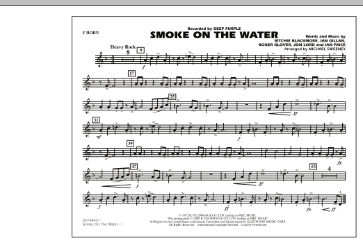 Smoke On The Water - F Horn (Marching Band)