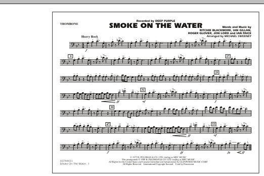 Smoke On The Water - Trombone (Marching Band)