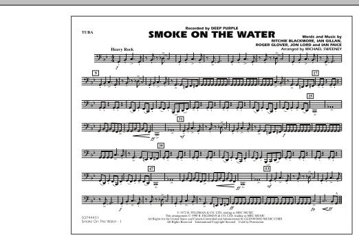 Smoke On The Water - Tuba (Marching Band)
