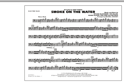 Smoke On The Water - Electric Bass (Marching Band)