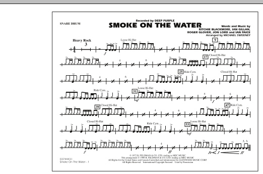 Smoke On The Water - Snare Drum (Marching Band)