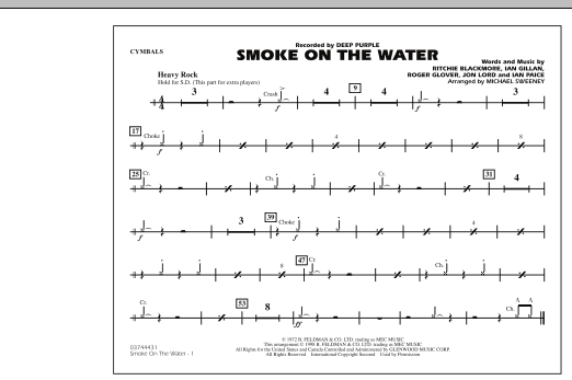 Smoke On The Water - Cymbals (Marching Band)