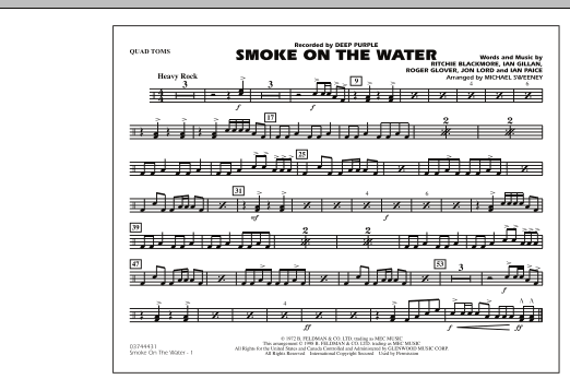 Smoke On The Water - Quad Toms (Marching Band)
