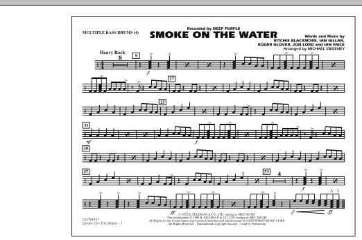 Smoke On The Water - Multiple Bass Drums (Marching Band)