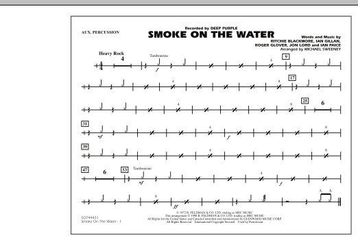 Smoke On The Water - Aux Percussion (Marching Band)