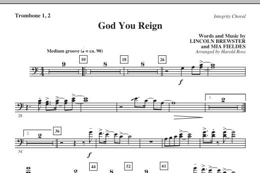 God You Reign - Trombone 1 & 2 (Choir Instrumental Pak)