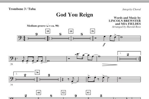 God You Reign - Trombone 3/Tuba (Choir Instrumental Pak)
