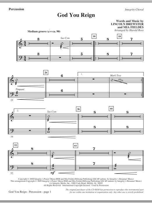 God You Reign - Percussion (Choir Instrumental Pak)