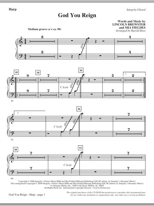 God You Reign - Harp (Choir Instrumental Pak)