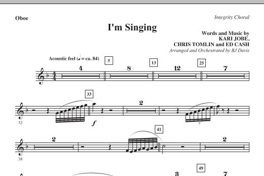 I'm Singing - Oboe (Choir Instrumental Pak)