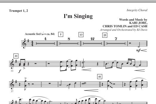 I'm Singing - Bb Trumpet 1,2 Sheet Music