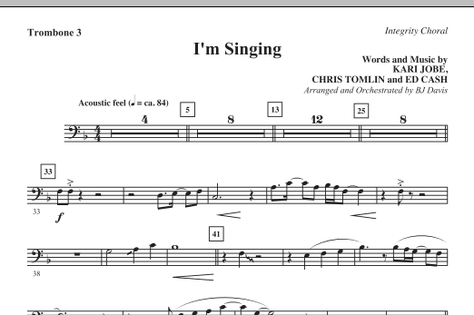 I'm Singing - Trombone 3/Tuba (Choir Instrumental Pak)