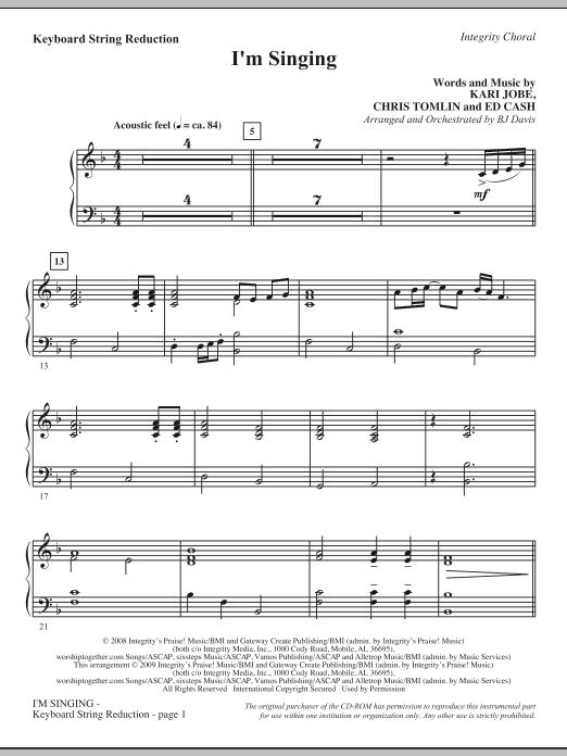 I'm Singing - Keyboard String Reduction (Choir Instrumental Pak)