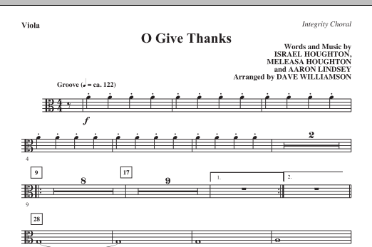 O Give Thanks - Viola Sheet Music