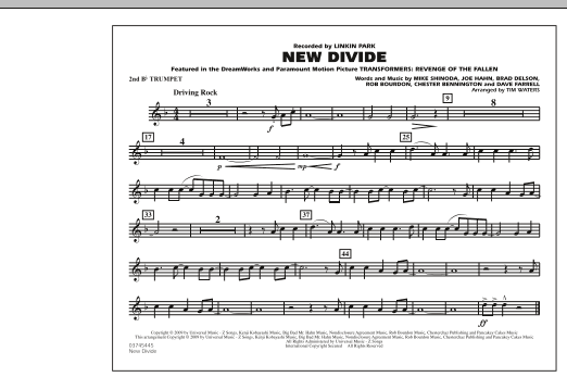 """New Divide (from """"Transformers: Revenge Of The Fallen"""") - 2nd Bb Trumpet (Marching Band)"""