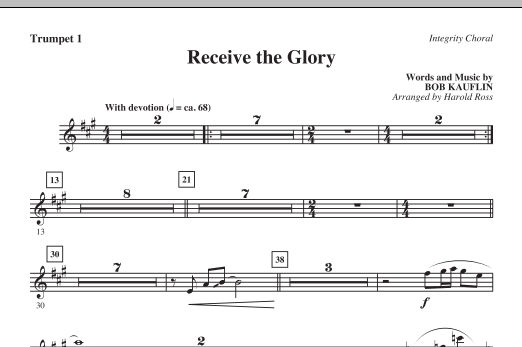 Receive The Glory - Trumpet 1 Sheet Music