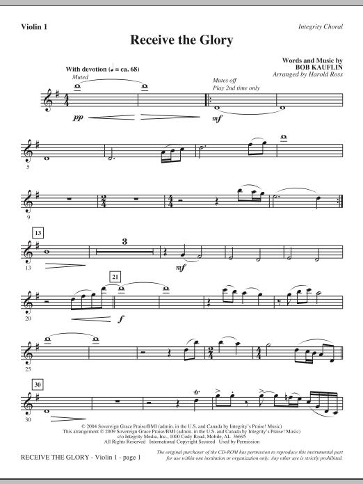 Receive The Glory - Violin 1 (Choir Instrumental Pak)