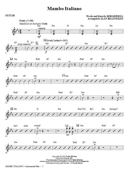 Mambo Italiano (arr. Alan Billingsley) - Guitar (Choir Instrumental Pak)