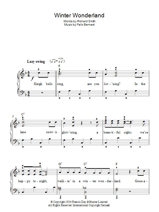 Winter Wonderland (Easy Piano)