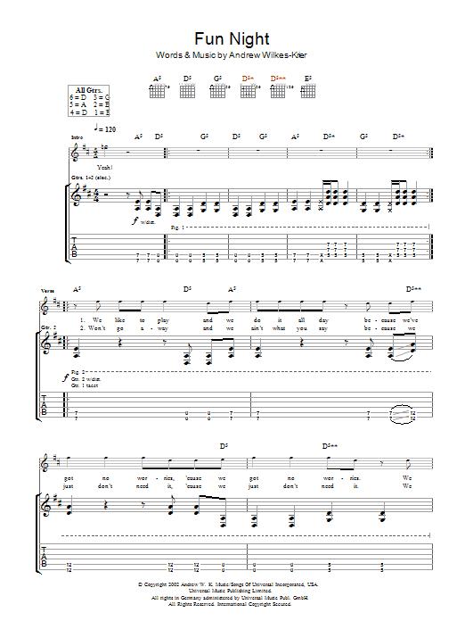Fun Night (Guitar Tab)
