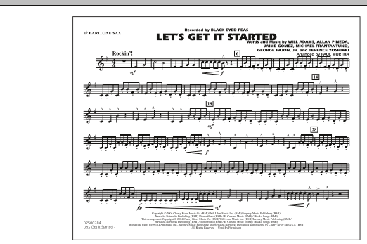Let's Get It Started - Eb Baritone Sax (Marching Band)