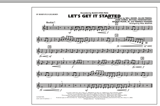 Let's Get It Started - Bb Horn/Flugelhorn (Marching Band)