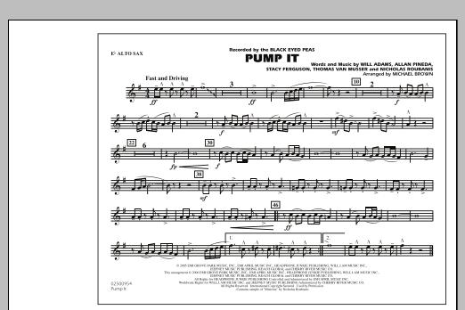 Pump It - Eb Alto Sax (Marching Band)