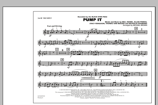 Pump It - 3rd Bb Trumpet (Marching Band)
