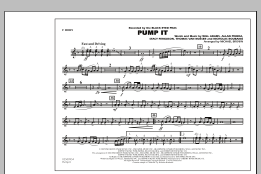 Pump It - F Horn (Marching Band)