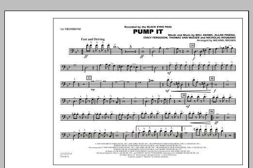 Pump It - 1st Trombone (Marching Band)