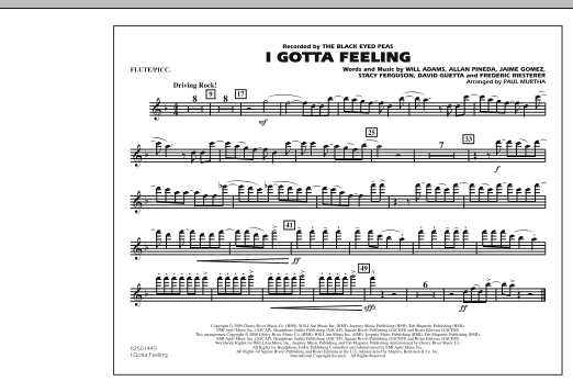 I Gotta Feeling - Flute/Piccolo (Marching Band)