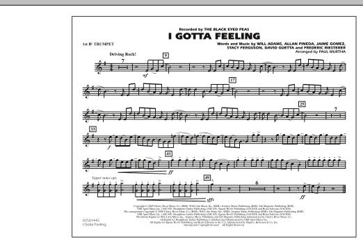 I Gotta Feeling - 1st Bb Trumpet (Marching Band)