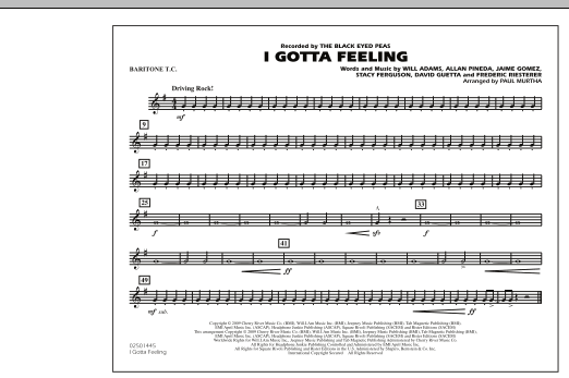 I Gotta Feeling - Baritone T.C. (Marching Band)